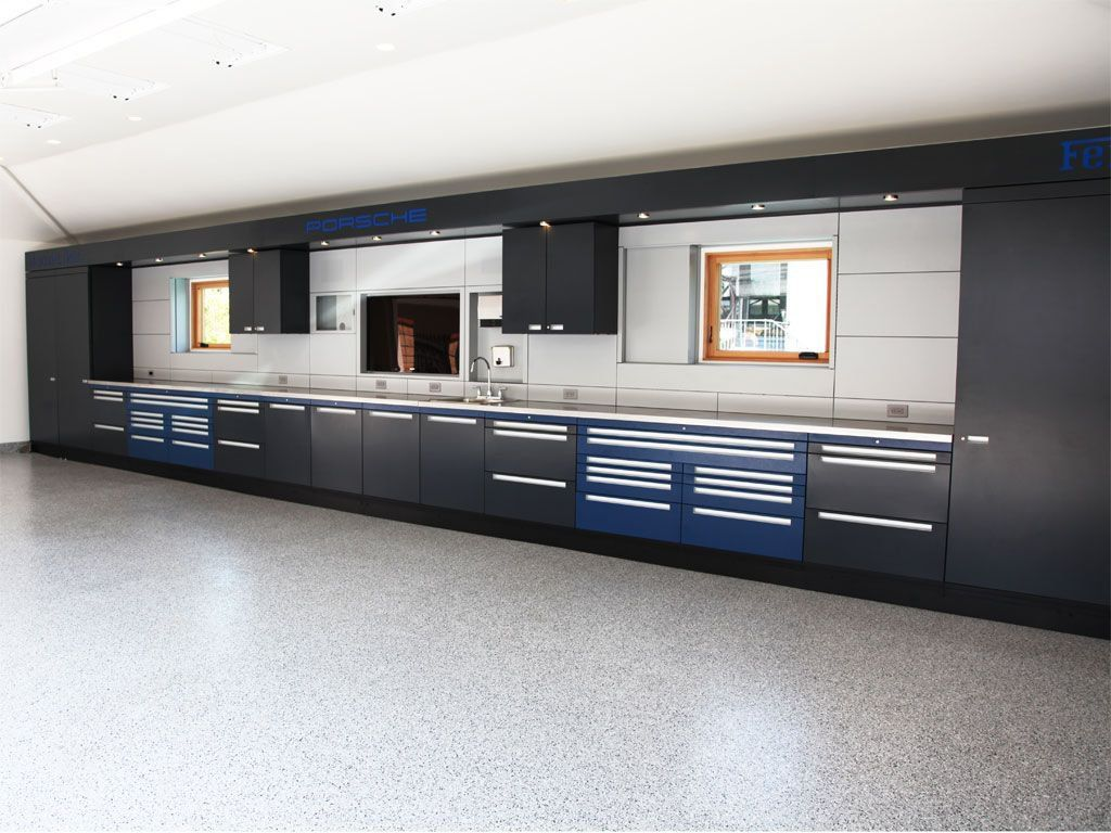 Custom Garage Interiors Cabinets Flooring And Organizational Solutions